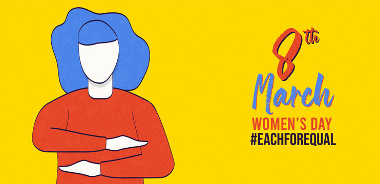 Women's day each for equal 8 march banner