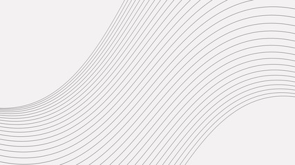 Abstract wave element for design. Stylized line art background.
