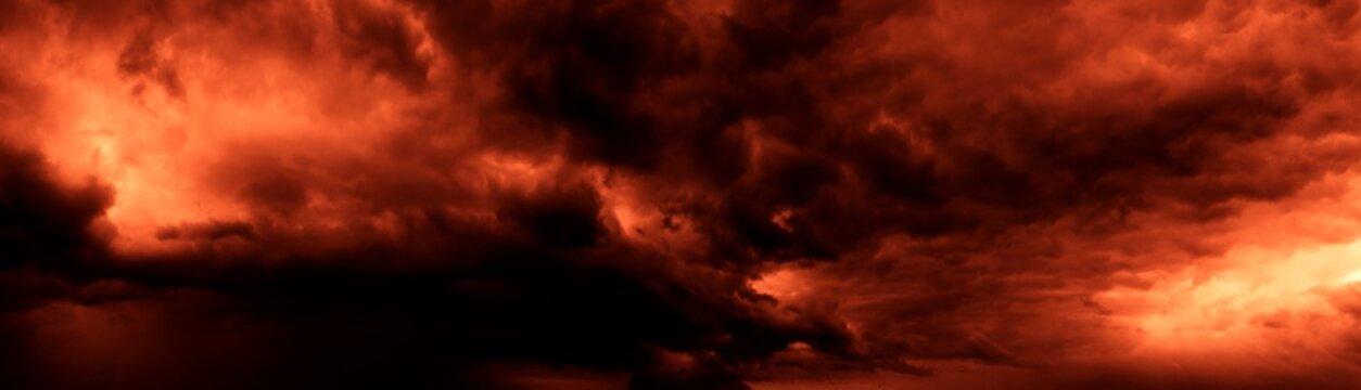 dark orange sky dramatic Panorama mountain and dramatic sky sunrise background and Beautiful colorful sunrise over mountain