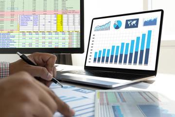 work hard Data Analytics Statistics Information Business Technology. Wall mural