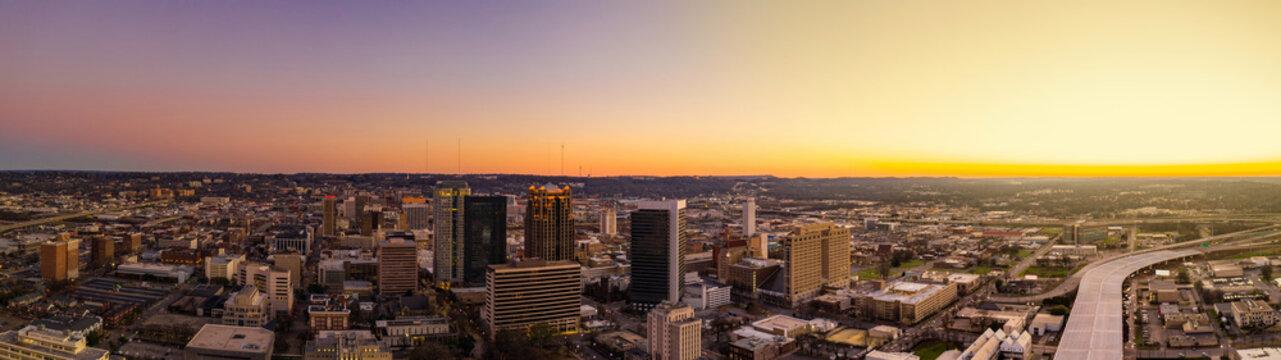 Sunset panorama Birmingham Alabama USA