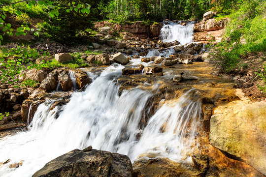 Waterfalls along the Ephraim Road in the Manti-La Sal National Forest.