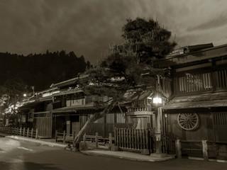 Fototapete - Historical street at historical town Takayama in Japan