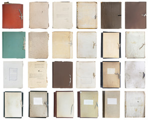 set of old folders