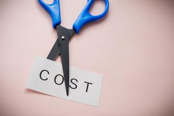【写真素材】 コスト削減 人件費カット 給料カット リストラ 経費削減