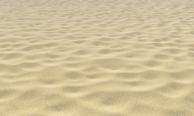 Yellow sand on beach under sunlight close-up Fototapete