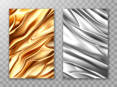 Foil golden and silver