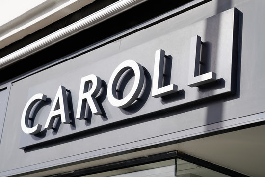 caroll logo sign brand clothing store french shop in street for women