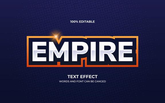 Esport team logo text effect
