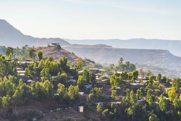 The cityscape of Lalibela, Ethiopia