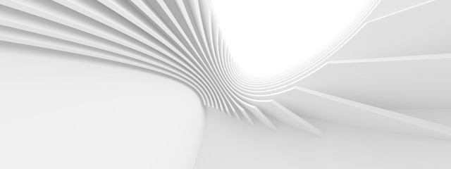 Fotobehang - Modern Geometric Wallpaper. Futuristic Technology Design. Abstract Architecture Background