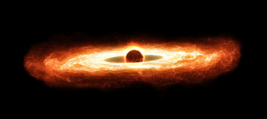 Supermassive Black Hole With Hot Accretion Disk