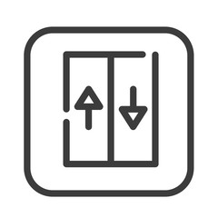 Elevator color line icon. Moving staircase which carries people between floors of a building. Pictogram for web page, mobile app, promo. UI UX GUI design element. Editable stroke.