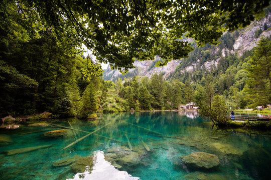 Lac Blausee en Suisse