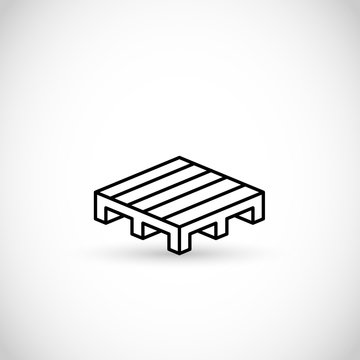 Pallet thin line style vector icon