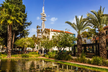 Sarona, an old quarter in tel Aviv founded by the Templars in the 19th century, Israel
