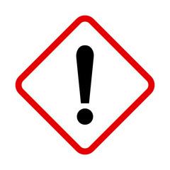 Obraz znak ostrzeżenie - fototapety do salonu