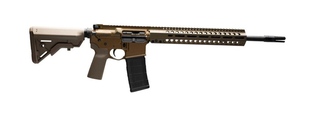 AR-15 on white
