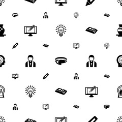 art icons pattern seamless. Included editable filled Idea, oyster, Marker, Digital illustration, priest, gold bar, Creative people, Wedding icons. art icons for web and mobile.