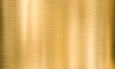 Wall Mural - Gold or bronze brushed metal background or texture