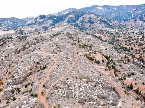 Colorado Aerial Mountain View
