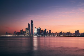 Cityscape Abu Dhabi at sunrise