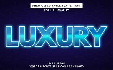 Wall Mural - Blue luxury text effect