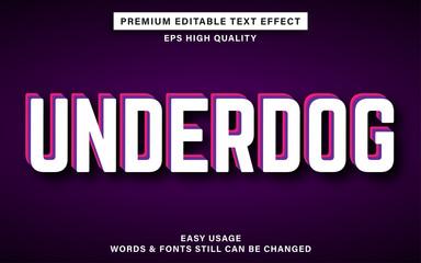 Wall Mural - Underdog text effect