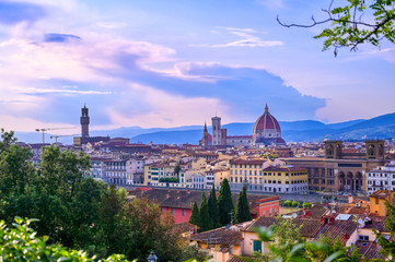 Aluminium Prints Florence A view of the Florence Cathedral located in Florence, Italy.