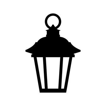 Lantern icon, logo isolated on white background