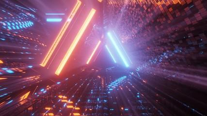Cool triangular shaped futuristic sci-fi techno lights