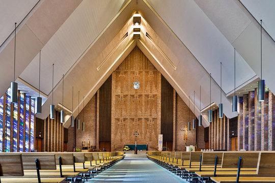 Church of the Nativity Vaulted Ceiling Interior Dubuque Iowa