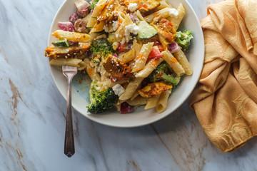 Greek Shawarma Pasta Salad