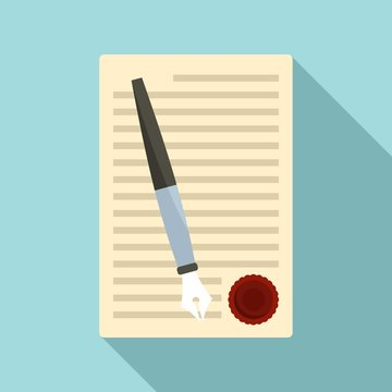 Legislation paper icon. Flat illustration of legislation paper vector icon for web design