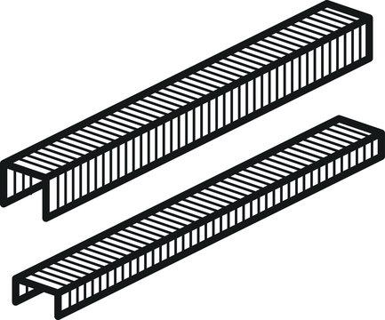 Staple icon, vector line illustration