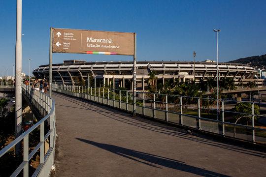 Rio de Janeiro, Brazil - 16.11.2019: Legendary Maracana Stadium.