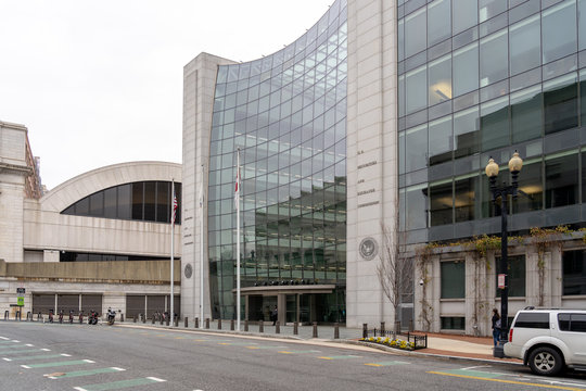 Washington, DC, USA- January 13, 2020: SEC Headquarters building in Washington DC. The U.S. Securities and Exchange Commission is an agency of the us federal government.