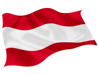 オーストリア   国旗 世界 アイコン Fototapete