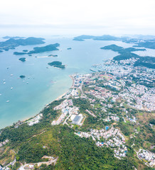 Fototapete - Aerial view of sai Kung. Travel and vacation location in East Hong Kong, Outdoor