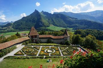 Gruyères Castle Garden