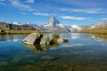 Stellisee and Matterhorn in Zermatt