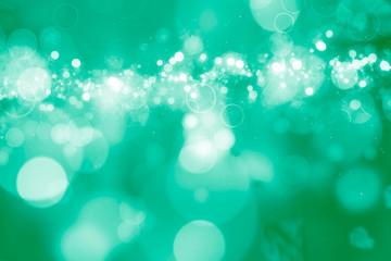 Beautiful Bokeh in green