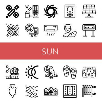 sun simple icons set