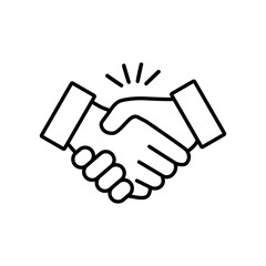 Handshake icon vector design illustration on a white background
