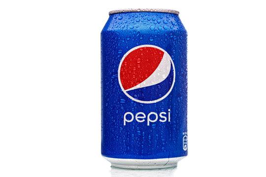 MINSK, BELARUS - November 26, 2019: Pepsi Can Isolated On White