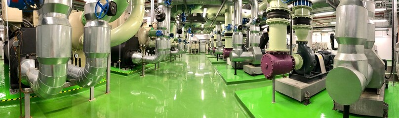 Panorama view Chiller Industry Plant