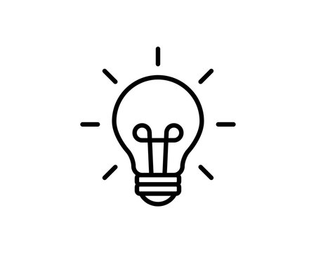 Light Bulb Logo Icon Vector