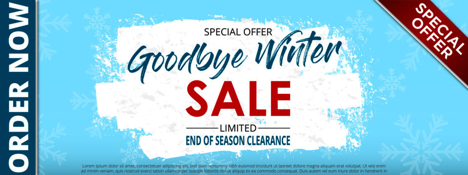 Goodbye winter sale snow scrub 8x3 baner 1