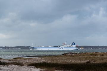 Wintersturm an der Kieler Förde in der Ostsee, hier am Strand von Laboe