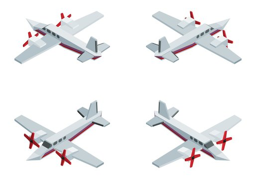 private jet with propellers expensive isometric